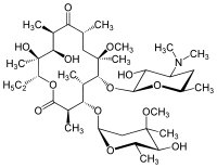 Strukturformel von Clarithromycin