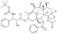 Strukturformel von Docetaxel