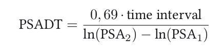 Formel zur Berechnung der PSA-Verdoppelungszeit
