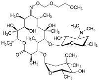 Strukturformel von Roxithromycin